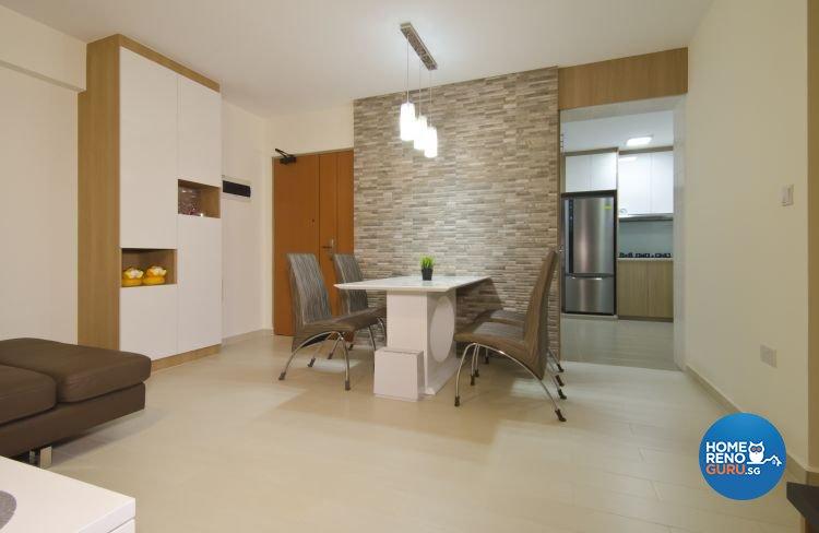 Contemporary, Industrial, Modern Design - Dining Room - HDB 5 Room - Design by Ideal Design Interior Pte Ltd