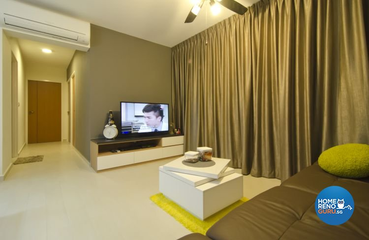 Contemporary, Industrial, Modern Design - Living Room - HDB 5 Room - Design by Ideal Design Interior Pte Ltd