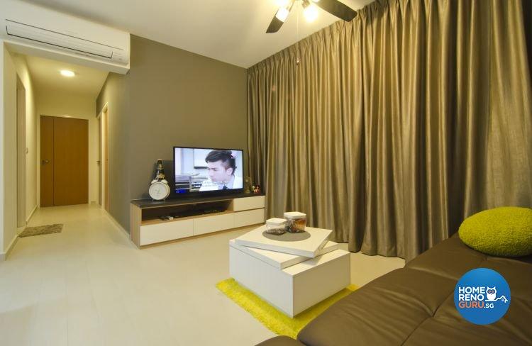 Contemporary, Industrial, Modern Design - Living Room - HDB 5 Room - Design by Ideal Design Interior Pte Ltd