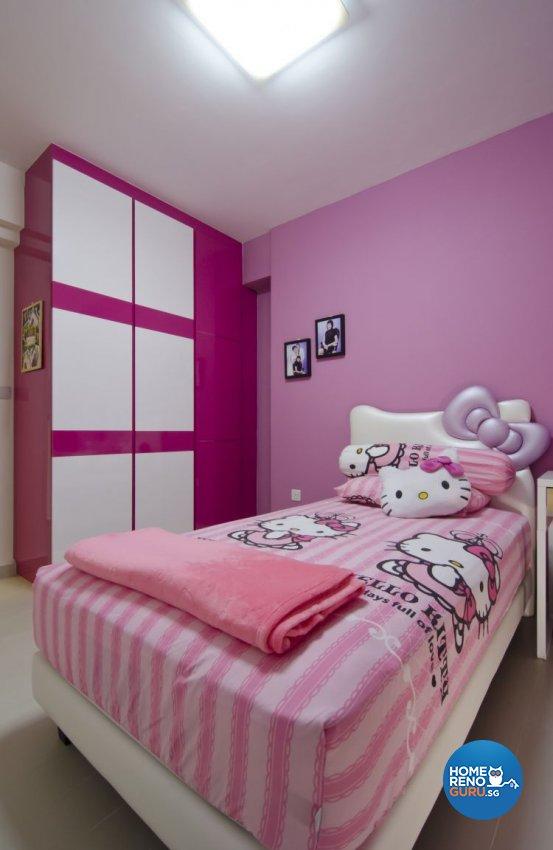 Contemporary, Industrial, Modern Design - Bedroom - HDB 5 Room - Design by Ideal Design Interior Pte Ltd