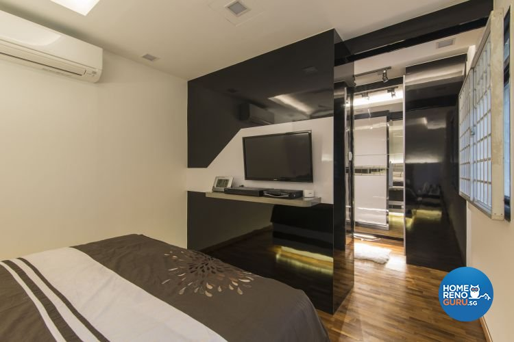 Contemporary, Modern Design - Bedroom - HDB Executive Apartment - Design by Ideal Design Interior Pte Ltd