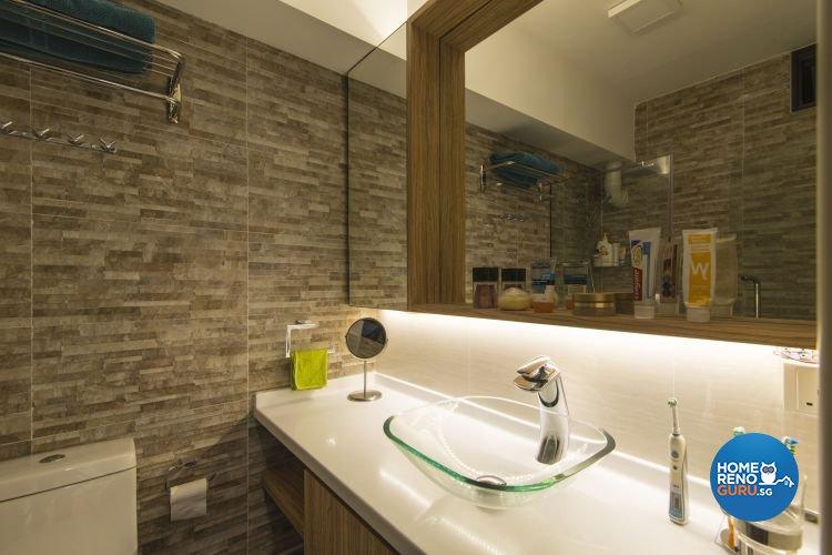 Contemporary, Modern Design - Bathroom - HDB Executive Apartment - Design by Ideal Design Interior Pte Ltd