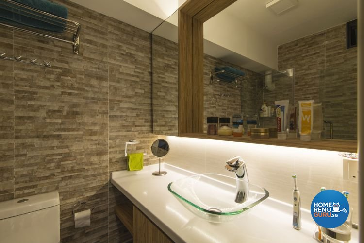 Contemporary, Modern Design - Bathroom - HDB Executive Apartment - Design by Ideal Design Interior Pte Ltd