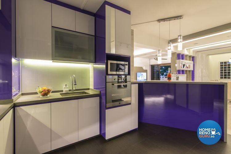 Contemporary, Modern Design - Kitchen - HDB Executive Apartment - Design by Ideal Design Interior Pte Ltd