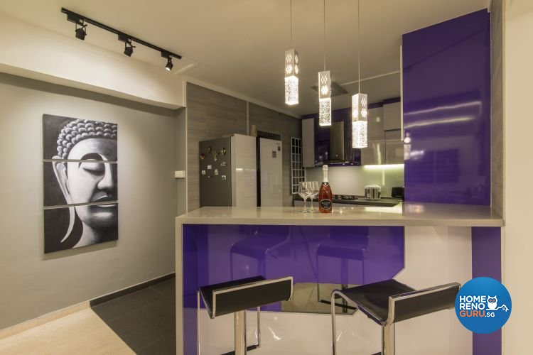 Contemporary, Modern Design - Kitchen - HDB Executive Apartment - Design by Ideal Design Interior Pte Ltd