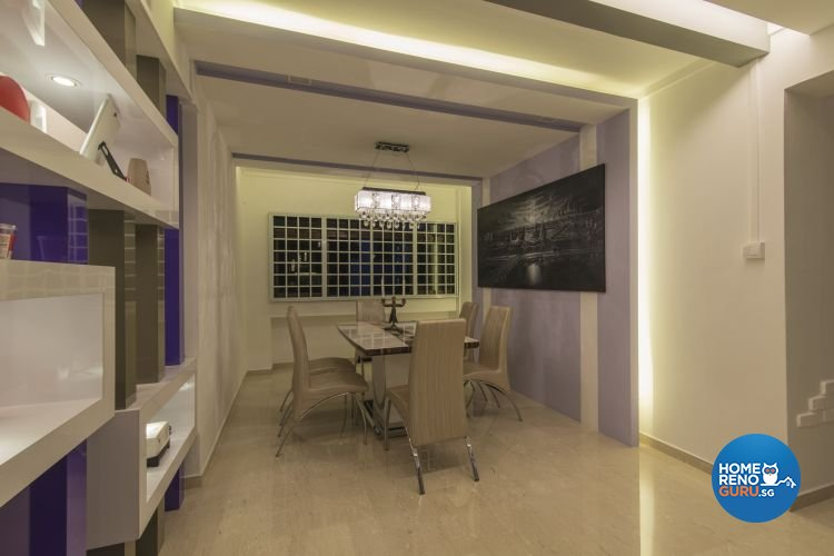 Contemporary, Modern Design - Dining Room - HDB Executive Apartment - Design by Ideal Design Interior Pte Ltd