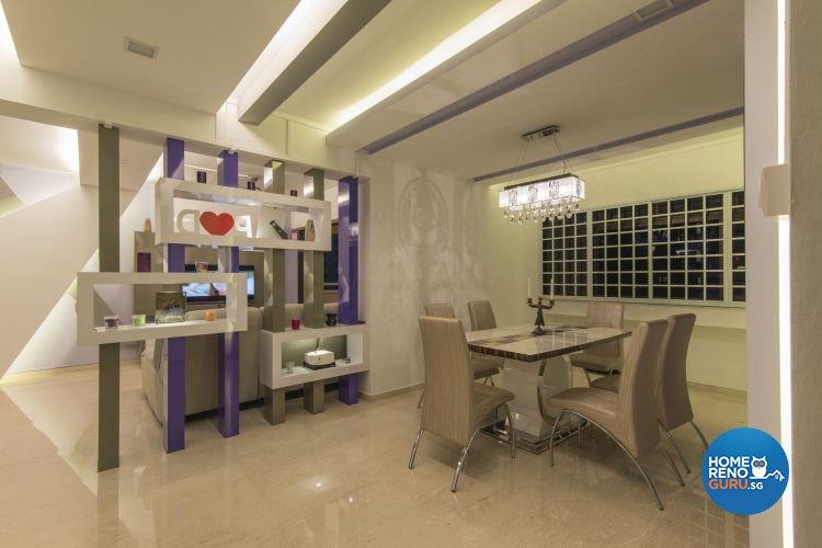 Contemporary, Modern Design - Dining Room - HDB Executive Apartment - Design by Ideal Design Interior Pte Ltd