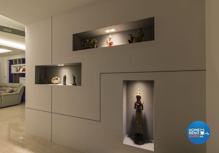Contemporary, Modern Design - Living Room - HDB Executive Apartment - Design by Ideal Design Interior Pte Ltd