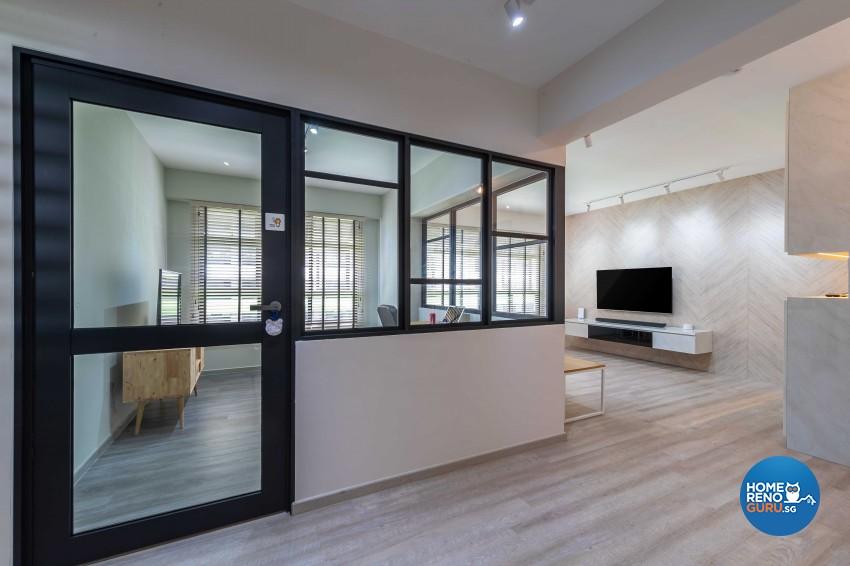 Contemporary, Industrial, Minimalist Design - Living Room - HDB 4 Room - Design by Ideal Design Interior Pte Ltd