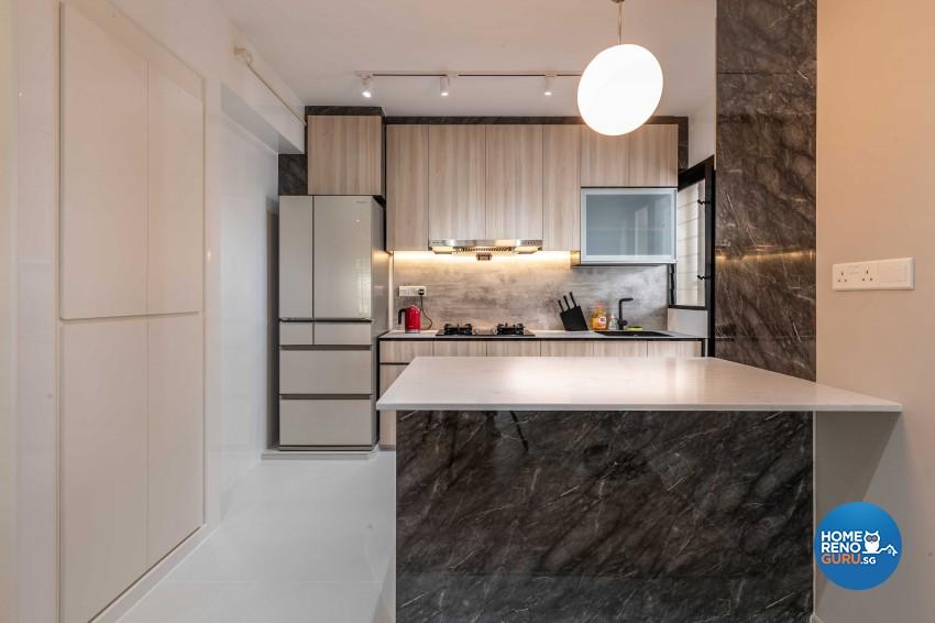 Contemporary, Industrial, Minimalist Design - Kitchen - HDB 4 Room - Design by Ideal Design Interior Pte Ltd