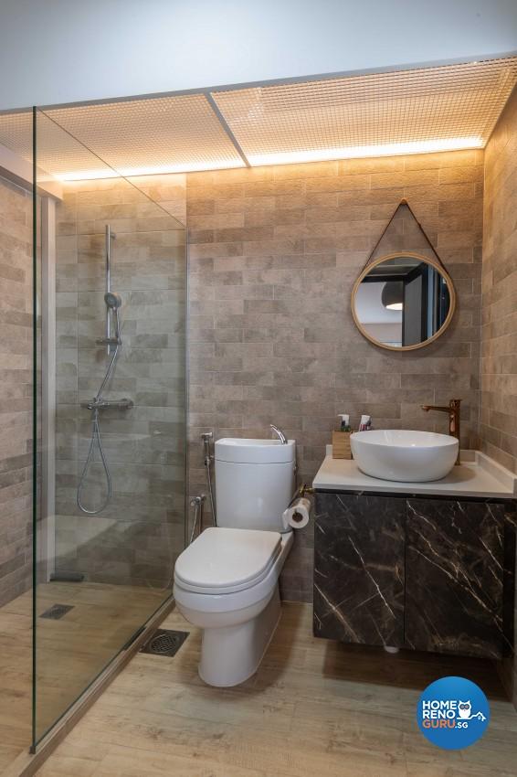 Contemporary, Industrial, Minimalist Design - Bathroom - HDB 4 Room - Design by Ideal Design Interior Pte Ltd