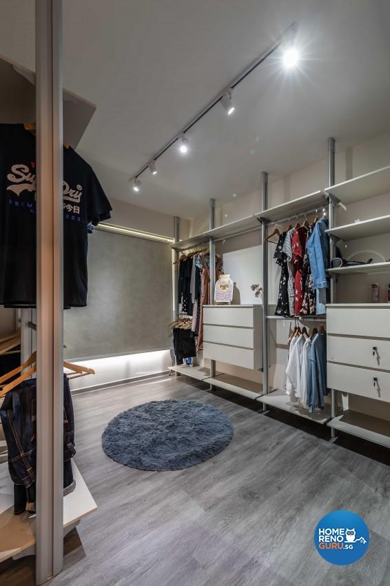 Contemporary, Industrial, Minimalist Design - Bedroom - HDB 4 Room - Design by Ideal Design Interior Pte Ltd
