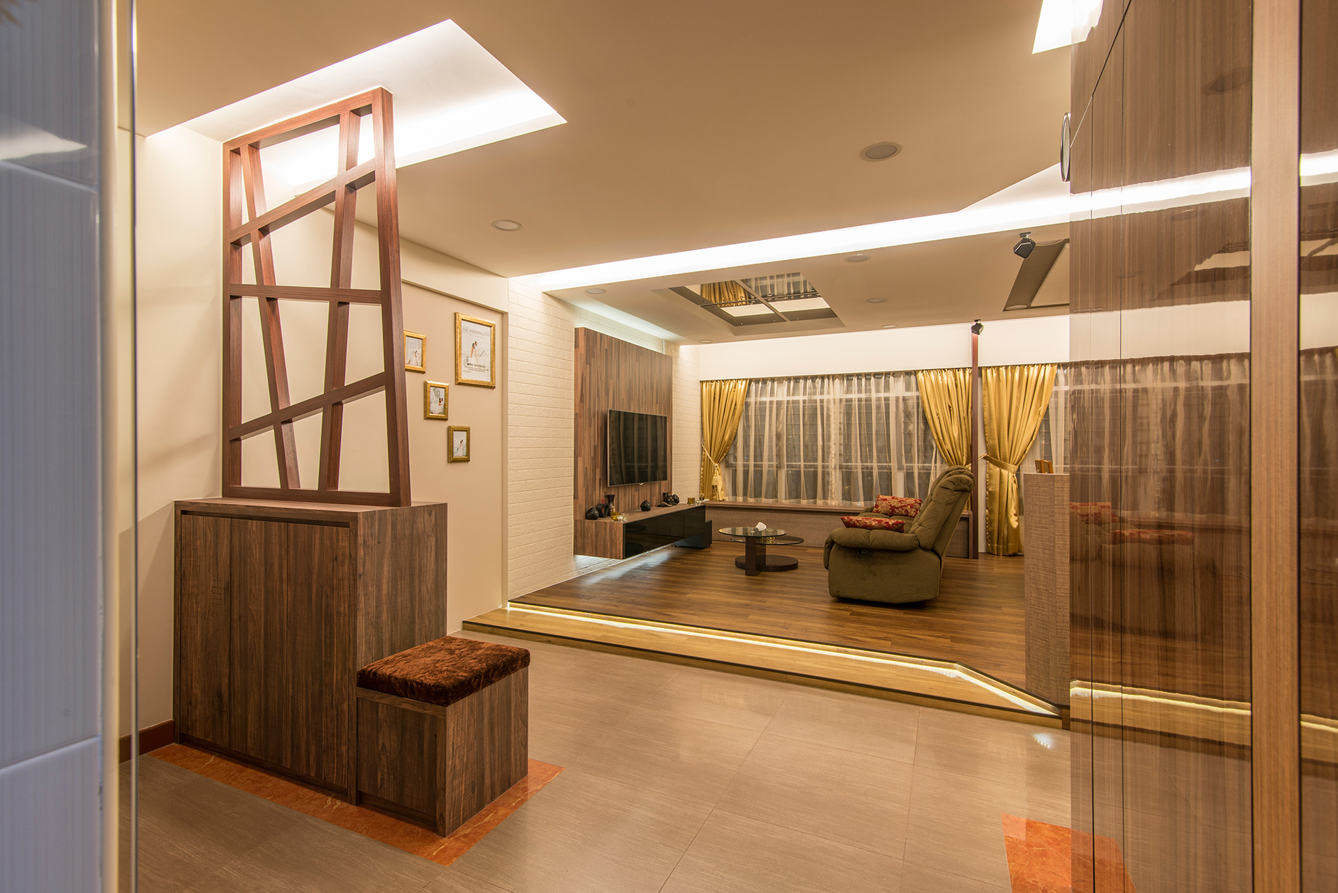 Singapore interior design gallery design details for 5 room flat interior design