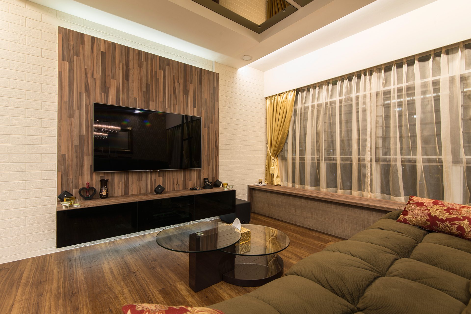 Country, Rustic Design - Living Room - HDB 5 Room - Design by Ideal Design Interior Pte Ltd