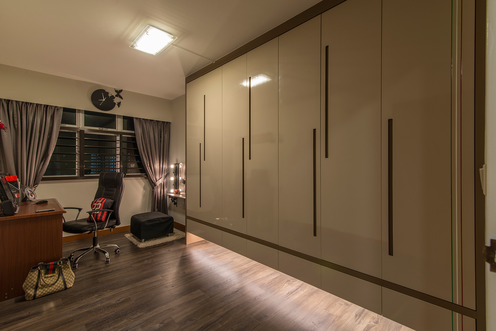 Country, Rustic Design - Study Room - HDB 5 Room - Design by Ideal Design Interior Pte Ltd