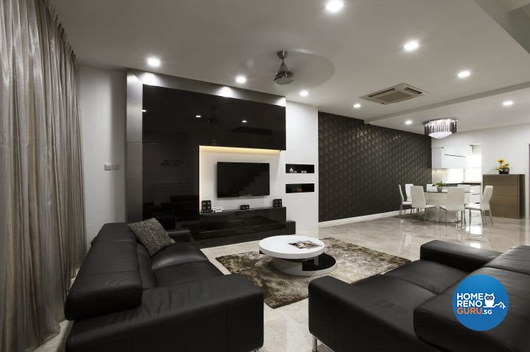 Industrial, Minimalist, Modern Design   Living Room   Landed House   Design  By Ideal