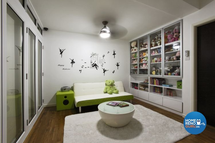 Industrial, Minimalist, Modern Design - Entertainment Room - Landed House - Design by Ideal House Pte Ltd