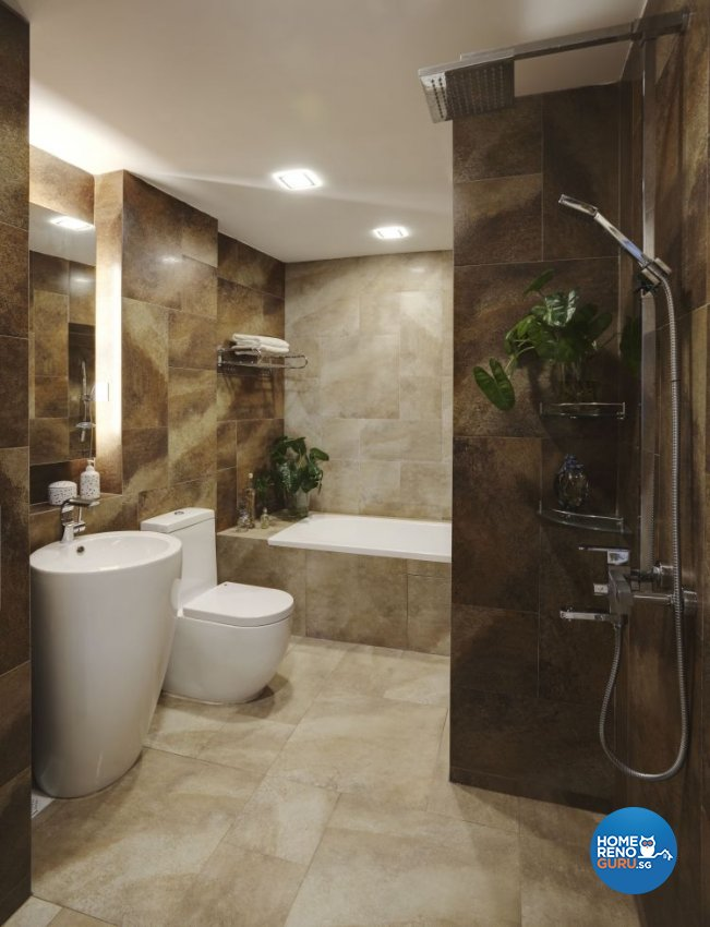 Country, Modern, Tropical Design - Bathroom - Condominium - Design by Idees Interior Design