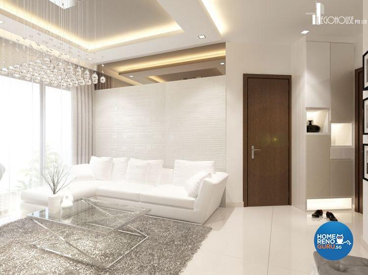 Classical, Contemporary, Minimalist Design - Living Room - Condominium - Design by Idees Interior Design