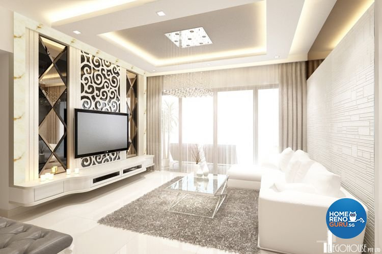 Classical, Contemporary, Minimalist Design - Living Room - Condominium - Design by Idees Interior Design