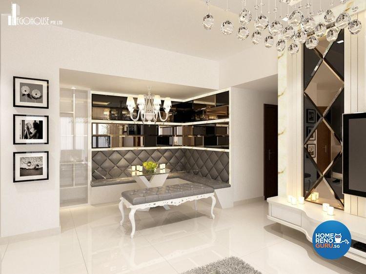 Classical, Contemporary, Minimalist Design - Entertainment Room - Condominium - Design by Idees Interior Design