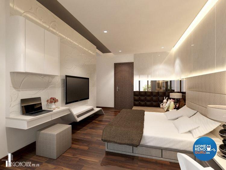 Classical, Contemporary, Minimalist Design - Bedroom - Condominium - Design by Idees Interior Design