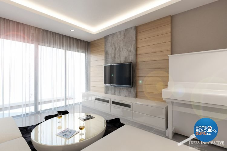 Contemporary, Modern Design - Living Room - Condominium - Design by Idees Interior Design