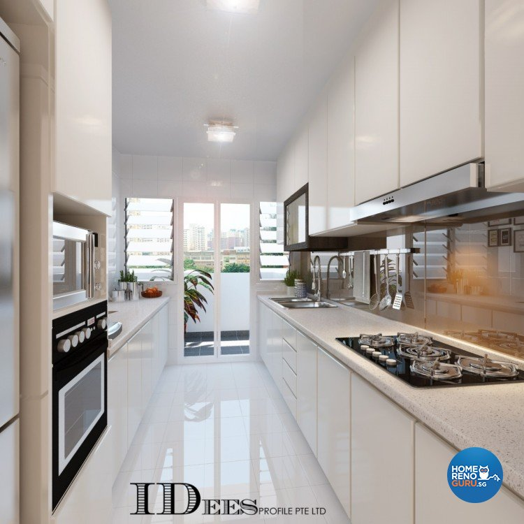 Contemporary, Modern, Scandinavian Design - Kitchen - HDB 4 Room - Design by Idees Interior Design