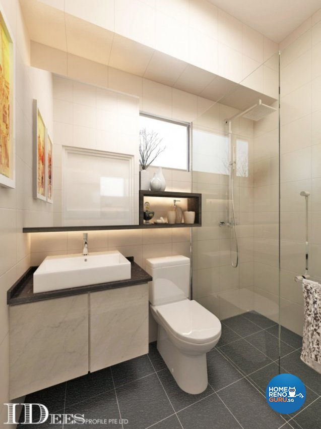 Contemporary, Modern, Scandinavian Design - Bathroom - HDB 4 Room - Design by Idees Interior Design