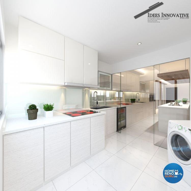 Contemporary, Modern Design - Kitchen - HDB 5 Room - Design by Idees Interior Design