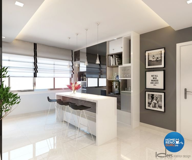 Contemporary, Minimalist, Modern Design - Living Room - HDB 5 Room - Design by Idees Interior Design