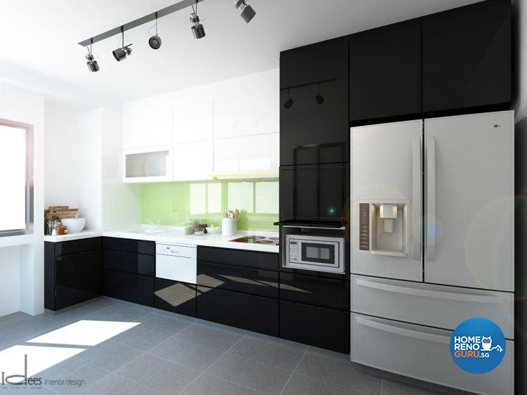 Contemporary, Minimalist, Modern Design - Kitchen - HDB 5 Room - Design by Idees Interior Design