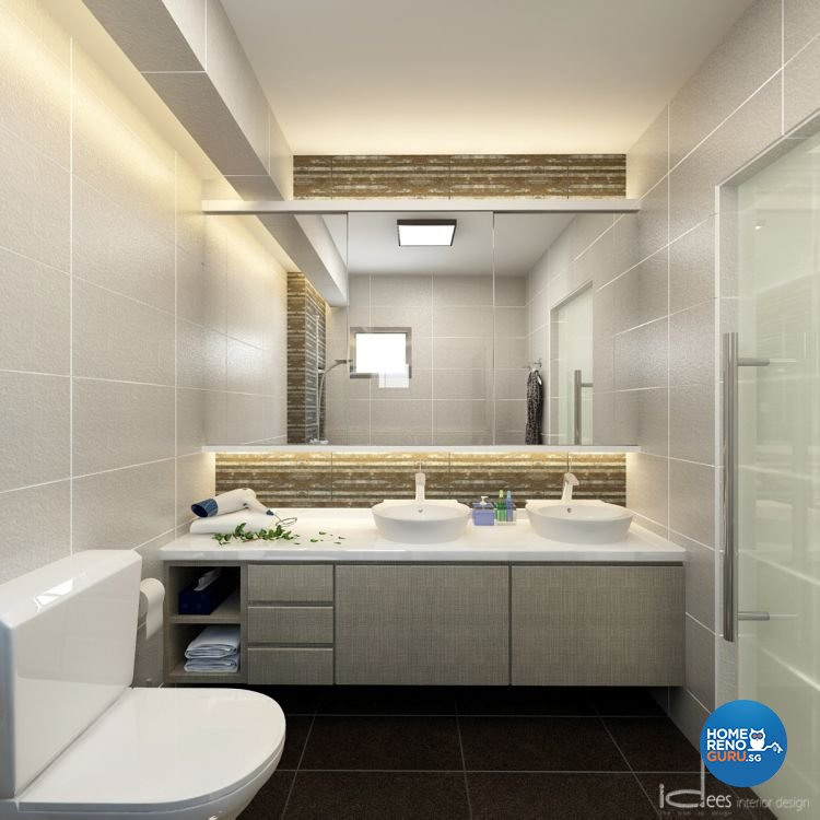 Contemporary, Minimalist, Modern Design - Bathroom - HDB 5 Room - Design by Idees Interior Design