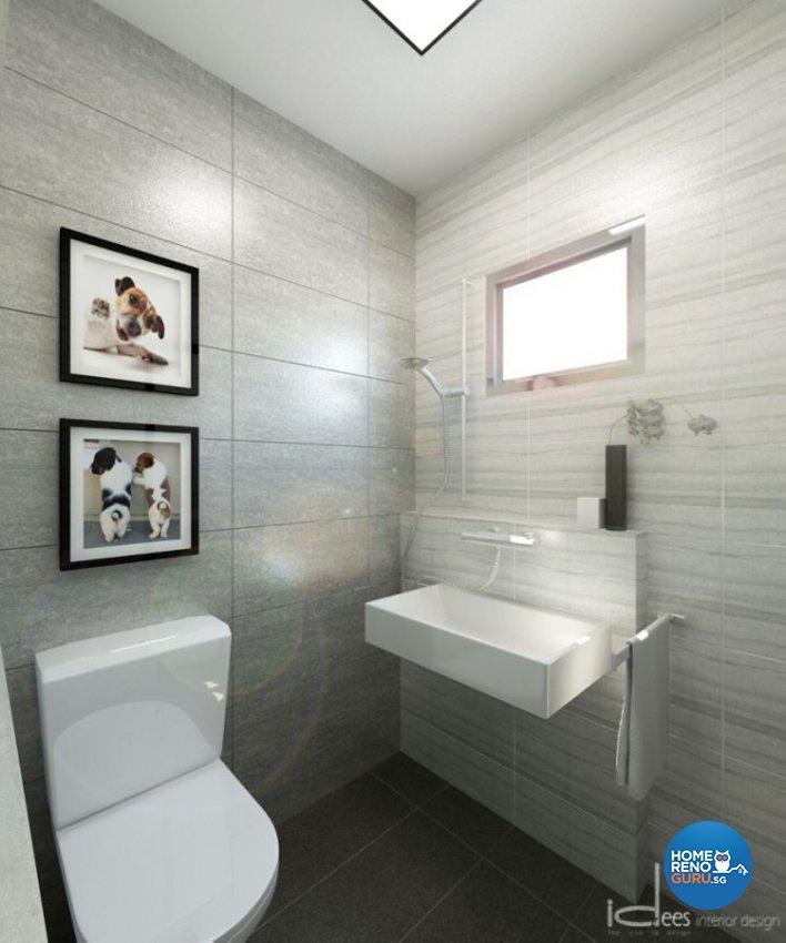 Contemporary, Minimalist, Modern Design - Bathroom - HDB 5 Room - Design by Idees Interior Design