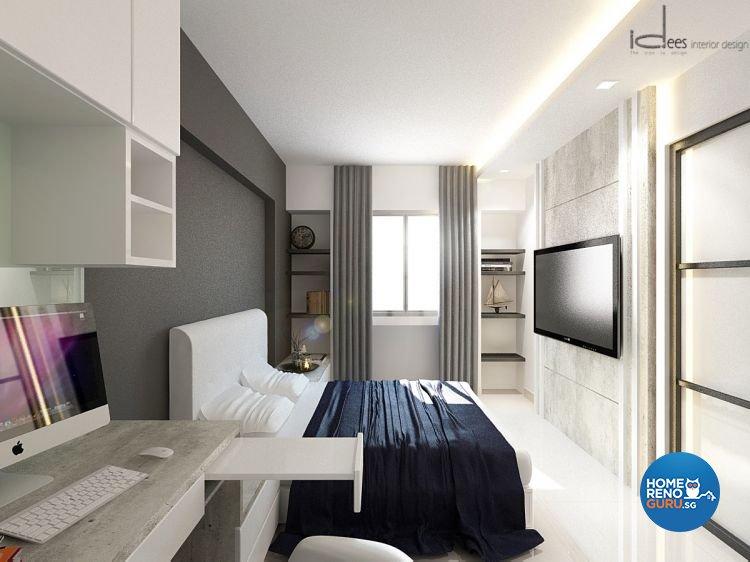 Contemporary, Minimalist, Modern Design - Bedroom - HDB 5 Room - Design by Idees Interior Design