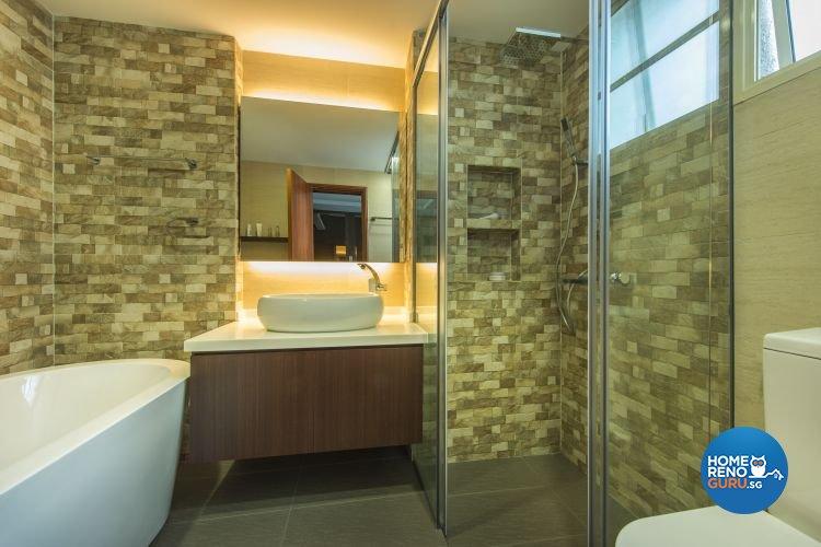 Modern, Scandinavian Design - Bathroom - Condominium - Design by Idees Interior Design