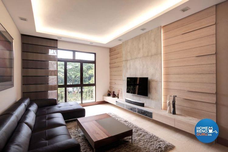 Contemporary, Minimalist Design - Living Room - Condominium - Design by Idees Interior Design