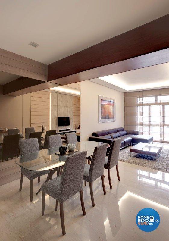 Contemporary, Minimalist Design - Dining Room - Condominium - Design by Idees Interior Design