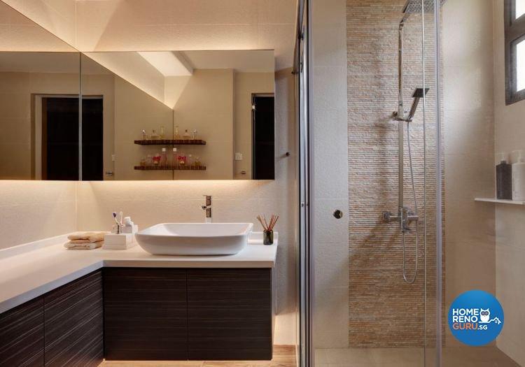 Contemporary, Minimalist Design - Bathroom - Condominium - Design by Idees Interior Design