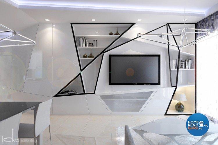 Contemporary, Eclectic, Modern Design - Living Room - Condominium - Design by Idees Interior Design