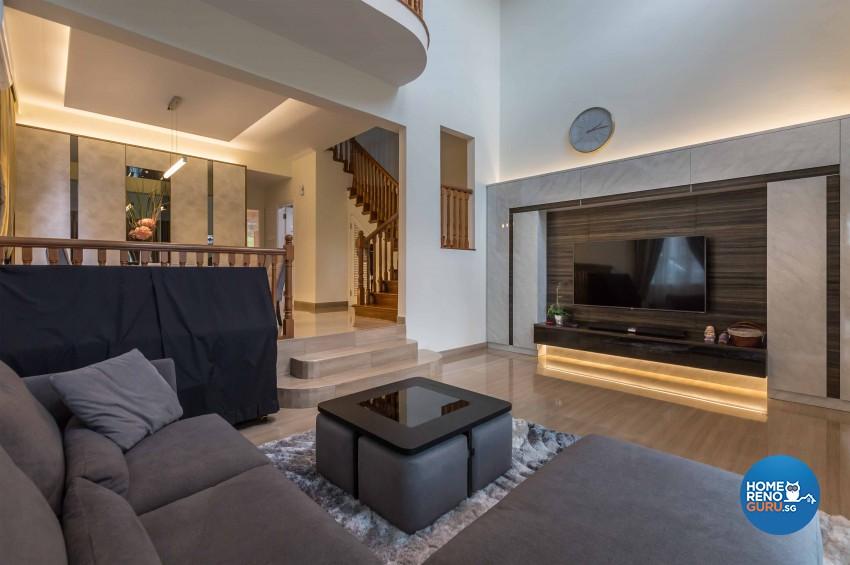 Modern Design - Living Room - Landed House - Design by Image Creative Design Pte Ltd