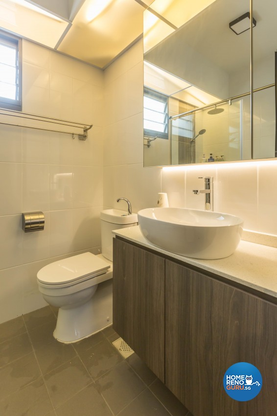 Scandinavian Design - Bathroom - HDB 5 Room - Design by Image Creative Design Pte Ltd