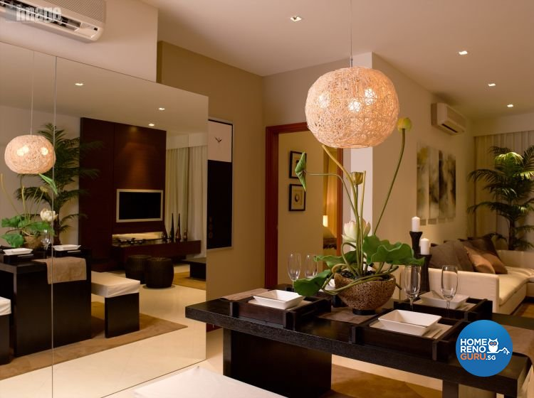 Resort, Tropical Design - Dining Room - Condominium - Design by Image Creative Design Pte Ltd
