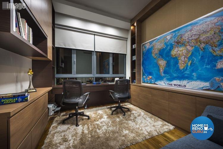 Contemporary, Modern Design - Study Room - Condominium - Design by Image Creative Design Pte Ltd