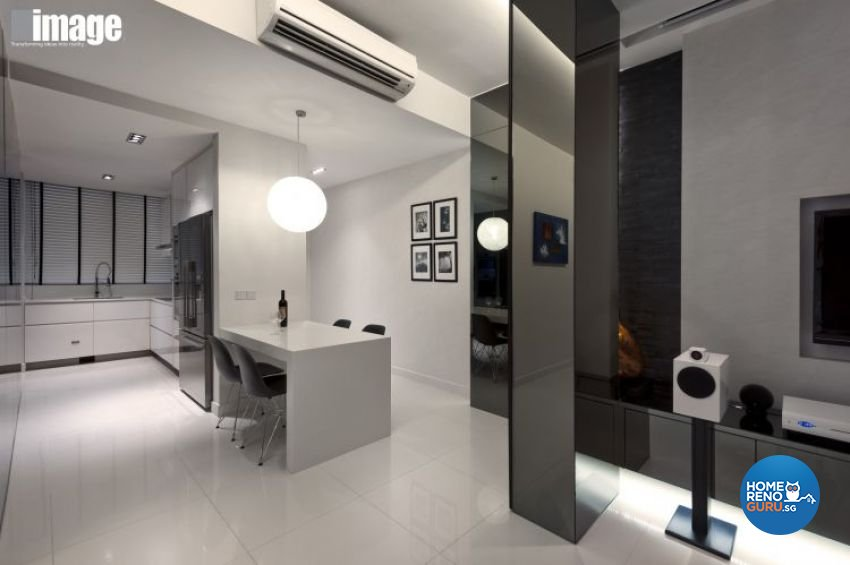 Minimalist, Modern Design - Dining Room - Condominium - Design by Image Creative Design Pte Ltd