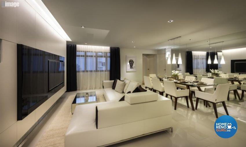 Contemporary, Modern Design - Living Room - HDB 5 Room - Design by Image Creative Design Pte Ltd