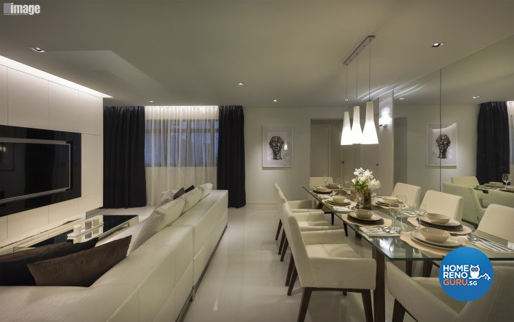 Contemporary, Modern Design - Living Room - HDB 5 Room - Design by Image Creative Design Pte Ltd