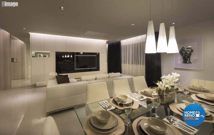 Contemporary, Modern Design - Dining Room - HDB 5 Room - Design by Image Creative Design Pte Ltd