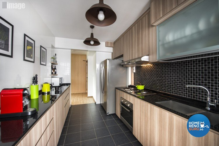 Contemporary, Modern Design - Kitchen - HDB 4 Room - Design by Image Creative Design Pte Ltd