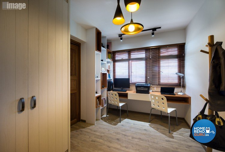 Contemporary, Modern Design - Study Room - HDB 4 Room - Design by Image Creative Design Pte Ltd